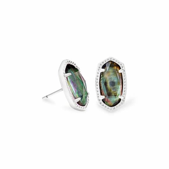 NEW Kendra Scott Ellie Bright Silver Stud Earrings
